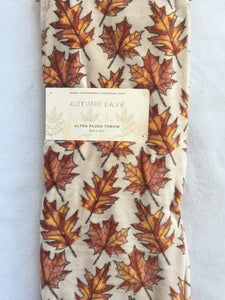 Harvest Leaves Autumn Days Blanket Throw