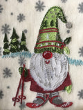 Christmas Ski Gnome Set of Two Hand or Finger Tip Towels