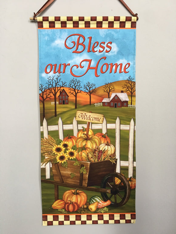 Harvest Bless Our Home Dowel Rod Wall Hanging
