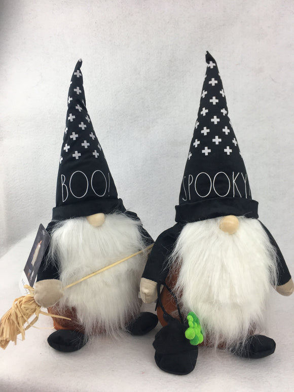 Halloween Designer Boo or Spooky Plush Gnome by Rae Dunn