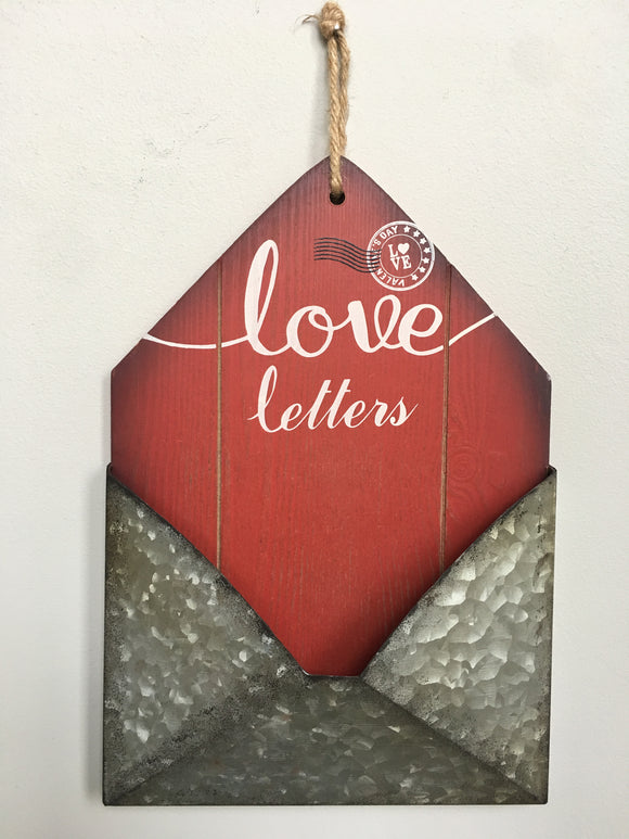 Valentine Holder for Love Letters Wall Hanging