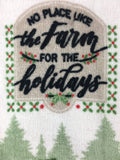 Christmas No Place Like the Farm for the Holidays Kitchen Towels