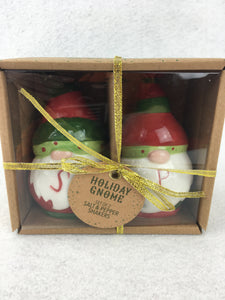 Christmas Santa Holiday Gnome Salt and Pepper Shakers