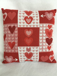 Valentine Multiple Hearts Pillow