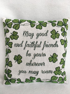 Saint Patrick's Day Shamrocks With Verse Pillow