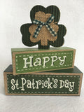 Saint Patrick's Day Happy St Patrick's Day Moveable Block Sitter Set