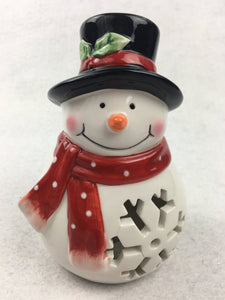Clearance Snowman Light Up Ceramic Display