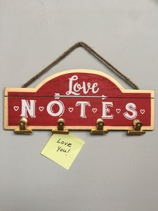 Valentine Love Notes Wall Hanging