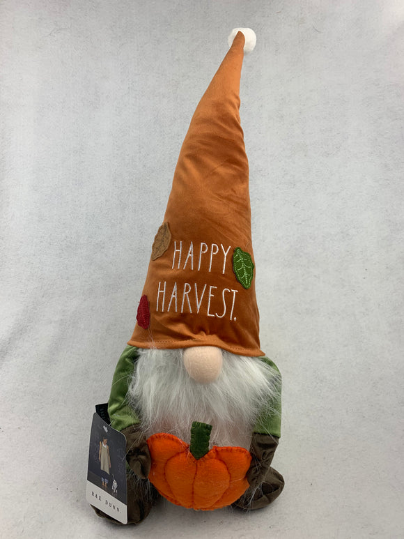 Harvest Gnome Holding Pumpkin by Rae Dunn