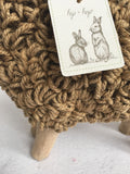 Easter Burlap and Rope Twine Lamb