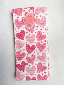 Valentine Large and Small Hearts 100% Cotton Kitchen Towels