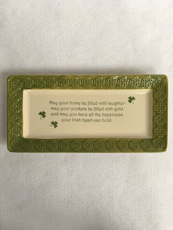 Saint Patrick's Day May Your Home Be Filled With Laughter Medium Rectangular Platter