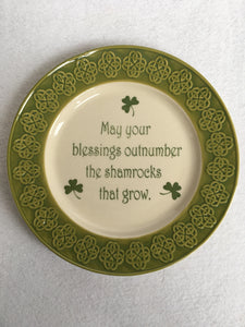 Saint Patrick's Day May Your Blessings Small Plate