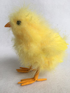 Easter Standing Chick with Fuzzy Feathers