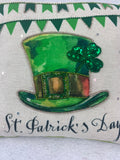 Saint Patrick's Day Embroidered Hat Pillow