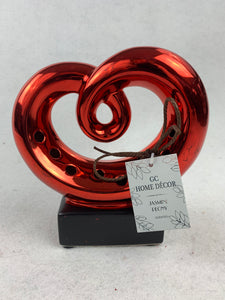 Valentine Shiny Red or Silver Scented Scroll Heart Display