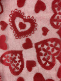 Valentine Red Lace Scattered Hearts Table Runner
