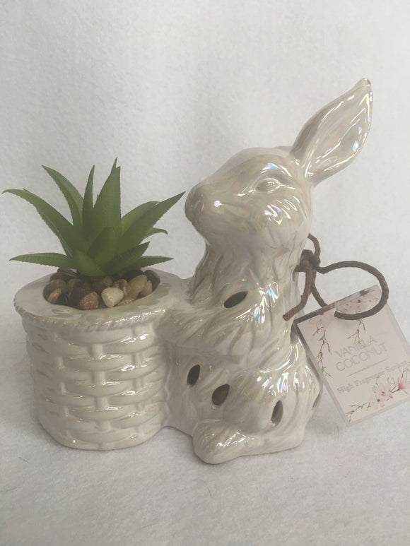 Easter Ceramic Bunny High Fragrance Sachet with Plant