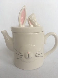 Easter Bunny Face and Ears Ceramic Tea Pot