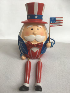 Patriotic Uncle Sam With Dangling Legs