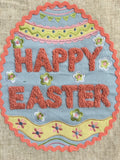 Easter Egg With Happy Easter Table Runner