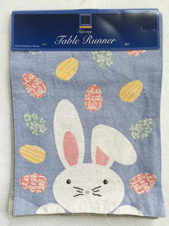 Easter Bunny With Eggs Tapestry Table Runner