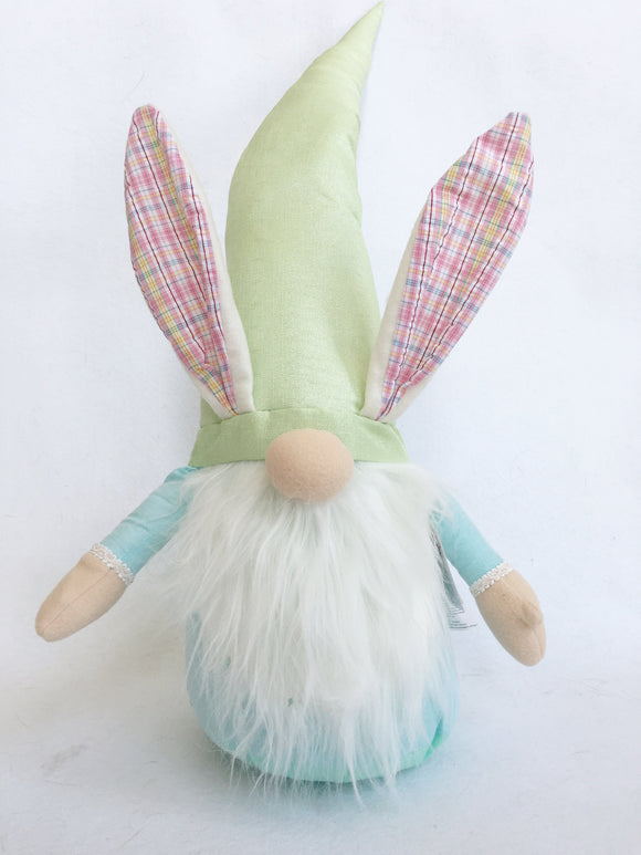 Easter Plush X-Large Gnome Wearing Bunny Ears