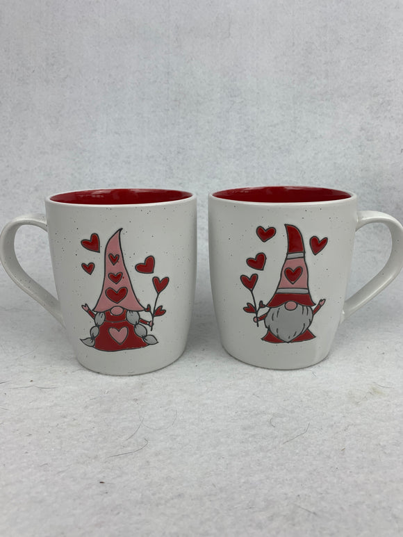 Valentine Boy and Girl Gnome Mug Set