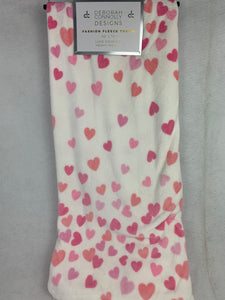 Valentine Cascading Hearts Blanket Throw