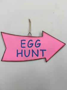 Easter Egg Hunt Metal Yard Stake or Sign