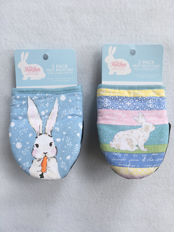 Easter 2 Pack Heat Resistant Mini Oven Mitts