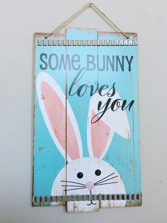 Easter Some Bunny Loves You Wall Hanging