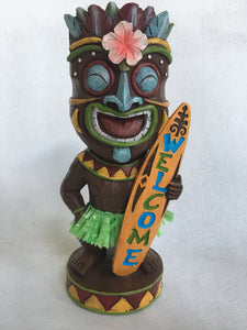 Beach Tiki Man With Surf Board