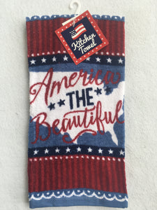 Patriotic America The Beautiful Kitchen Towel