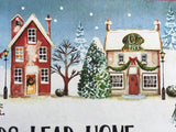 Christmas All Roads Lead Home For The Holidays Comfort Rubber Mat