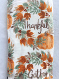 Harvest Gather and Thankful Pumpkin Plush Blanket Throw