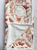 Harvest Pine Grove Forest Luxe Plush Blanket Throw
