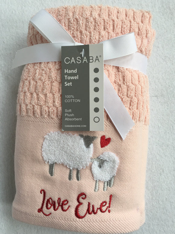 Valentine Love Ewe Hand Towel Set