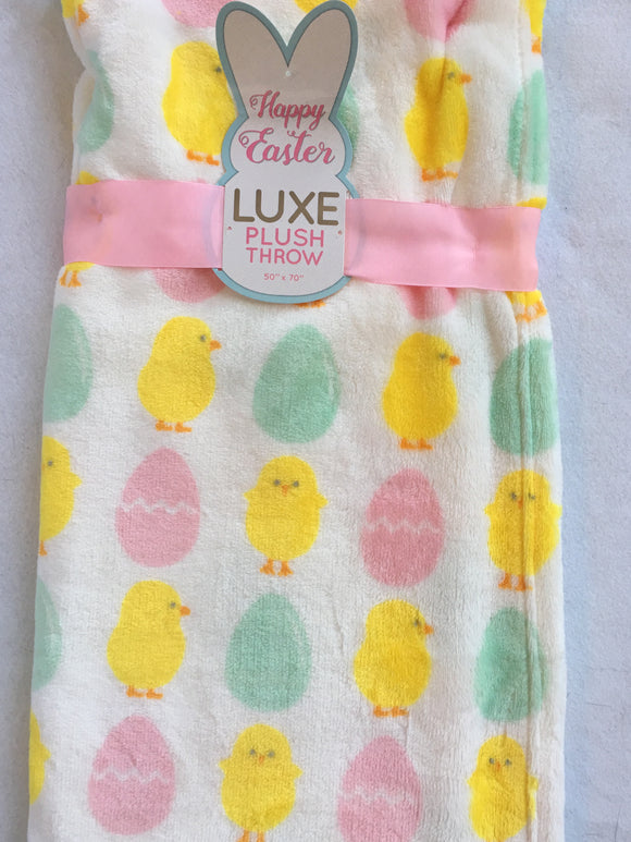 Easter Eggs and Chicks Blanket Throw