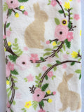 Easter Bunny Encircled With Flowers Blanket Throw