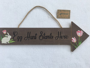 Easter Egg Hunt Starts Here Wall Hanging