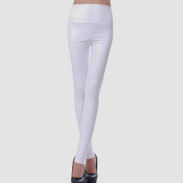 Faux Leather High Waist Leggings - Multiple Colors - S-XL Sizes