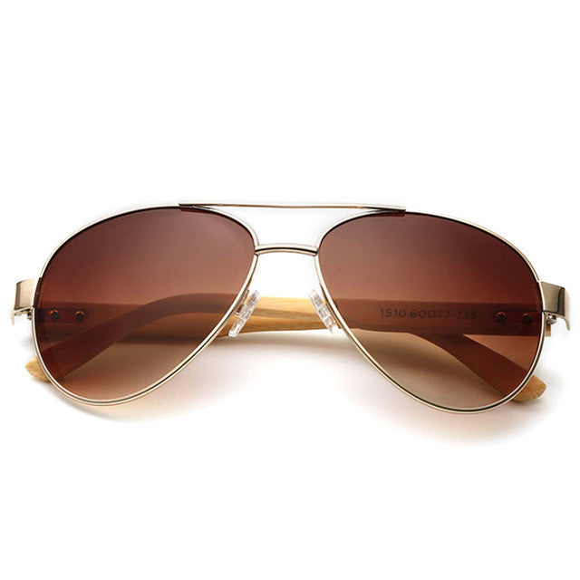 Vintage Bamboo Look Sunglasses