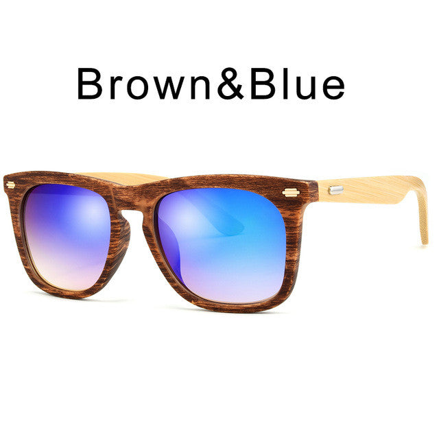 Classic Bamboo Look Sunglasses