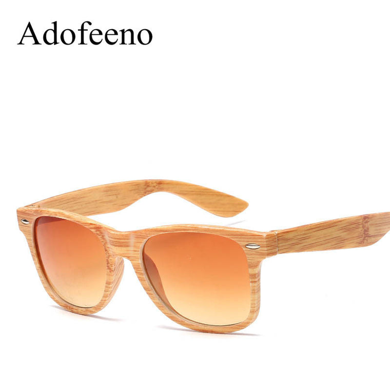 Vintage Wood-Look Sunglasses