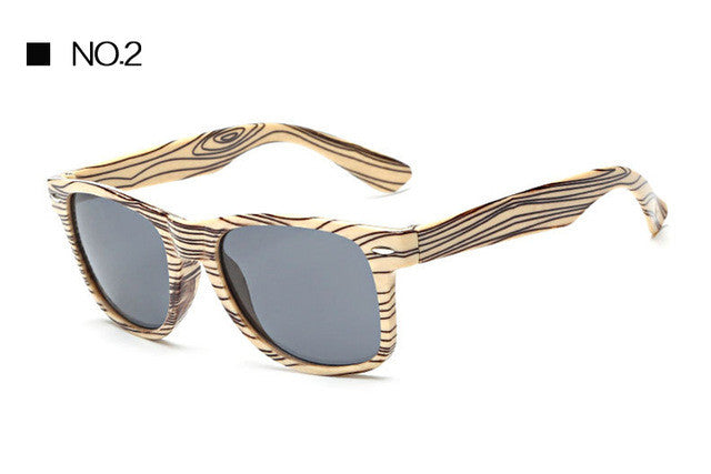 Vintage Wood Grain Look Sunglasses