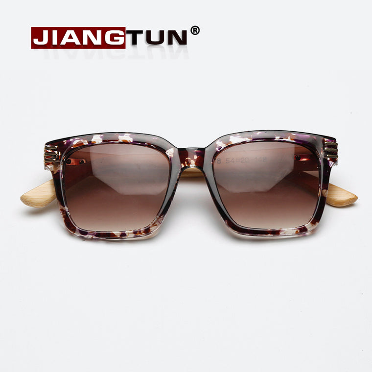 Vintage Wooden Square Sunglasses