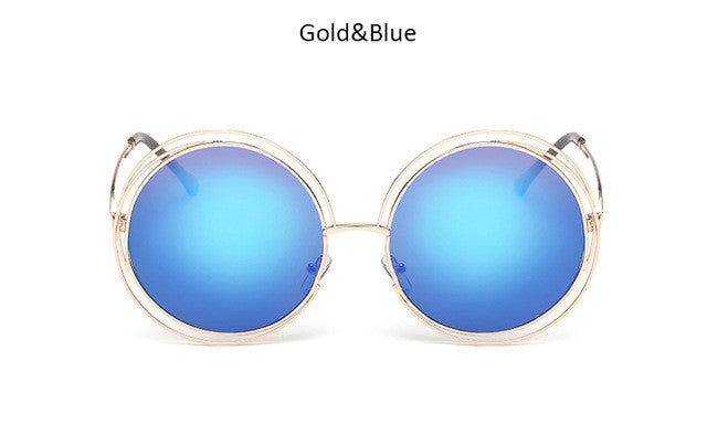 Luxury Oversized Round Sunglasses
