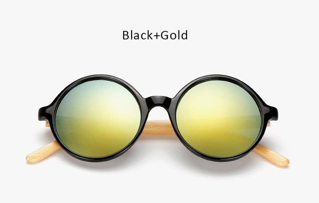 Unique Bamboo Mirror Sunglasses