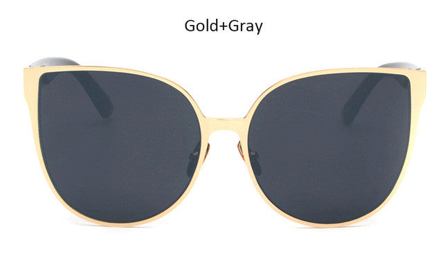 Oversized Cat Eye Mirrored Sunglasses